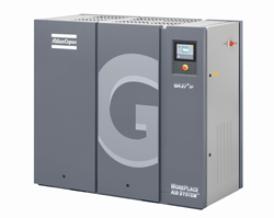GA 37 FF oil injected screw air compressor with integrated refrigerant dryer
